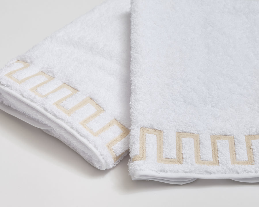 New Greek Key Terry Towels