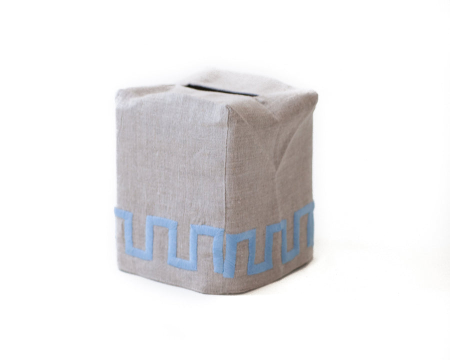 New Greek Key Tissue Box Cover