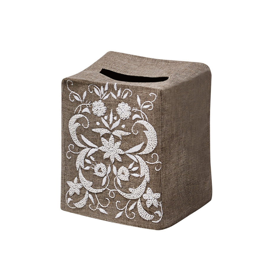 Winter Floral Tissue Box Cover