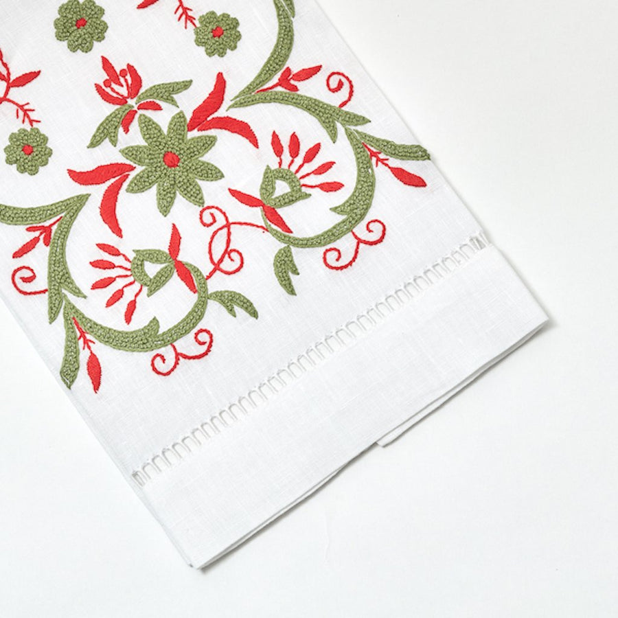 Winter Floral Tip Towel