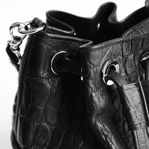 LADY T - Leather Bucket Bag / Small