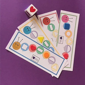 Shape Butterfly / Wriggly Caterpillar Game Sets - Combo