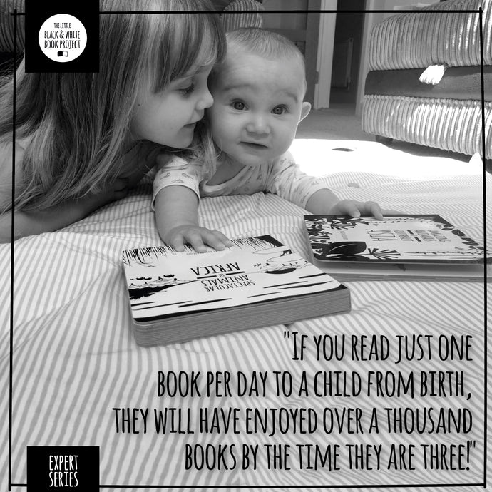 If you read just one book per day to a child from birth, they will have enjoyed over a thousand books by the time they are three!