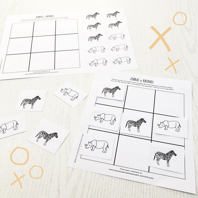 Zebras vs rhinos noughts and crosses game