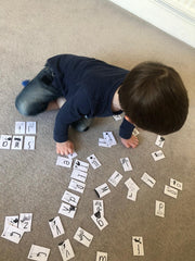 boy with letters