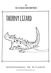 lizard colouring sheet