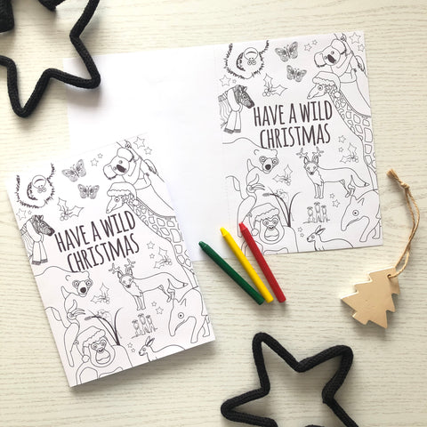christmas card template to colour in