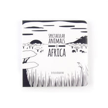 Load image into Gallery viewer, Baby book - African animals - The Little Black & White Book Project