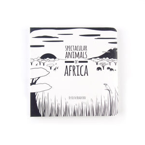 Baby book - African animals - The Little Black & White Book Project