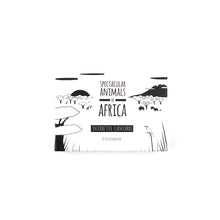 Load image into Gallery viewer, Baby flash cards - Africa animals - The Little Black & White Book Project