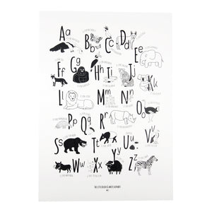 Animal Alphabet Print - The Little Black & White Book Project