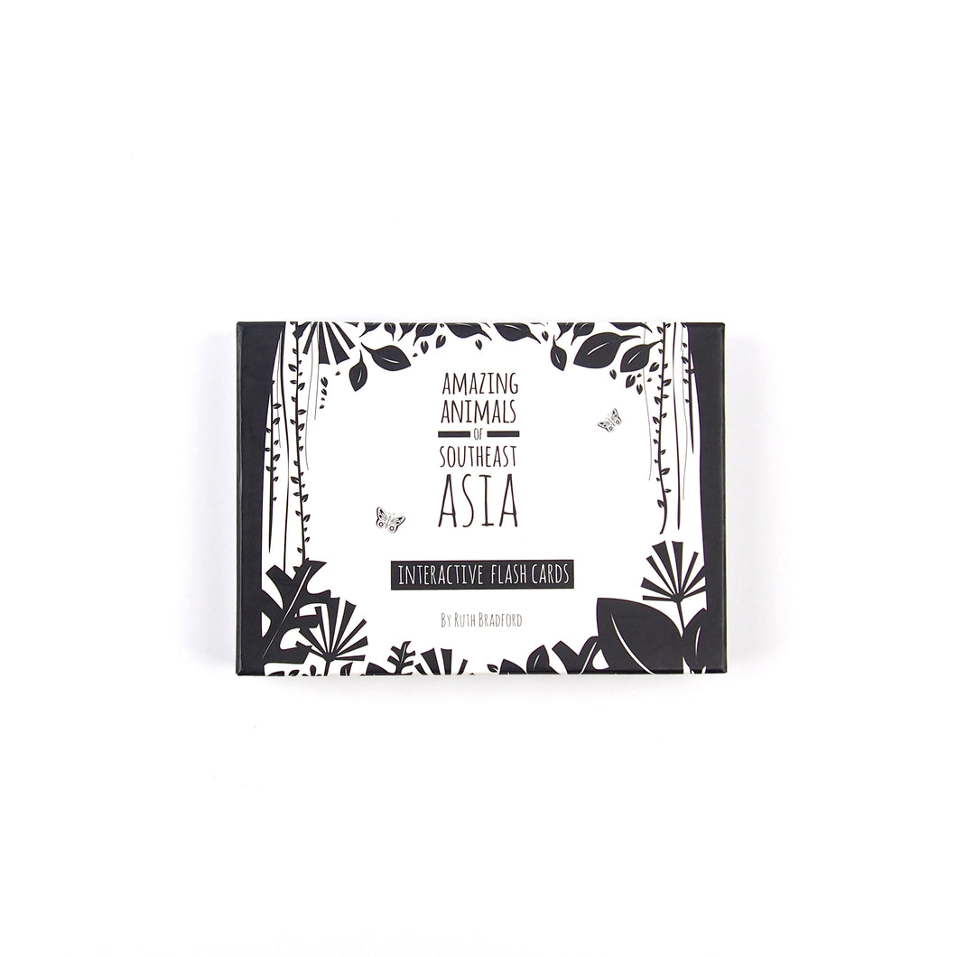 Baby flash cards - Southeast Asia animals - The Little Black & White Book Project