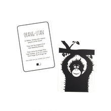 Load image into Gallery viewer, Baby flash cards - Southeast Asia animals - The Little Black & White Book Project