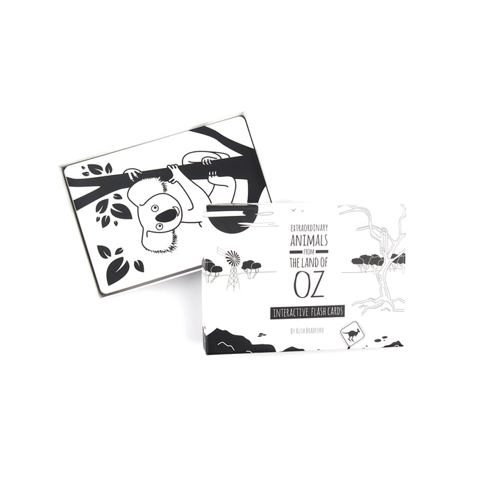 Baby flash cards - Australian animals - The Little Black & White Book Project