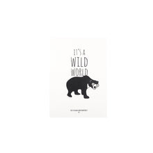 Load image into Gallery viewer, Its a wild world sun bear illustration A5 print