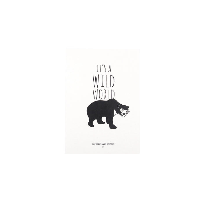 Its a wild world sun bear illustration A5 print