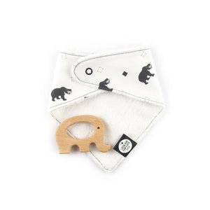 Southeast Asia teething set - sun bear pattern - The Little Black & White Book Project