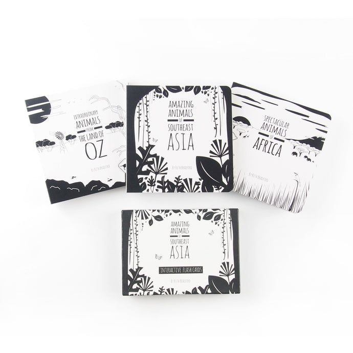 Our signature set of books and flash cards - The Little Black & White Book Project