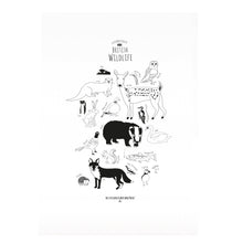 Load image into Gallery viewer, British Animals illustration A3 Print