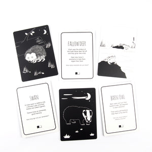 Baby flash cards - Great Britain animals - The Little Black & White Book Project