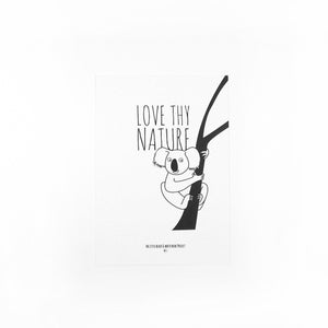 'Love thy nature' koala print - The Little Black & White Book Project
