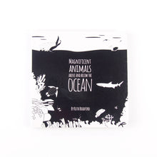Load image into Gallery viewer, Baby book - ocean animals - The Little Black & White Book Project