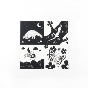 Southeast Asia animals square print