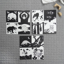 Load image into Gallery viewer, Set of 3 square prints animals of Southeast Asia - The Little Black & White Book Project