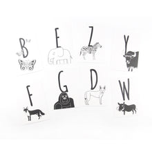 Load image into Gallery viewer, Animal Alphabet Postcards - The Little Black & White Book Project