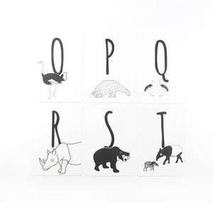 Animal Alphabet Postcards - The Little Black & White Book Project