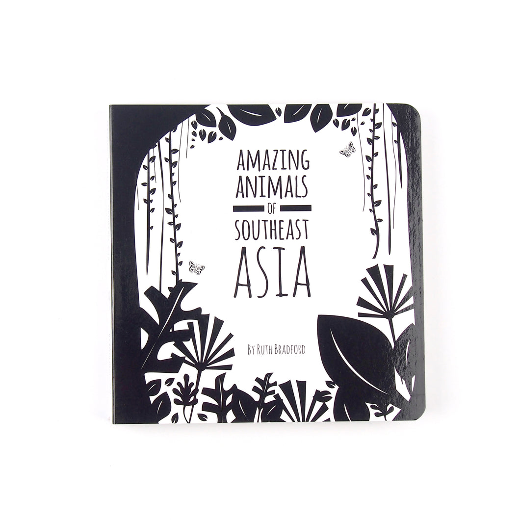 Baby book - Southeast Asia animals - The Little Black & White Book Project