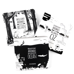 3 Black and white baby books