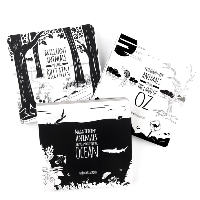 Black and white baby book set - choose your own - The Little Black & White Book Project