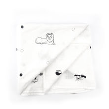 Load image into Gallery viewer, SECONDS - Muslin swaddle blanket - The Little Black & White Book Project