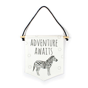 Zebra flag - Adventure Awaits