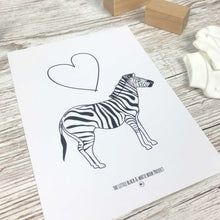 Load image into Gallery viewer, Heart and zebra print - The Little Black & White Book Project