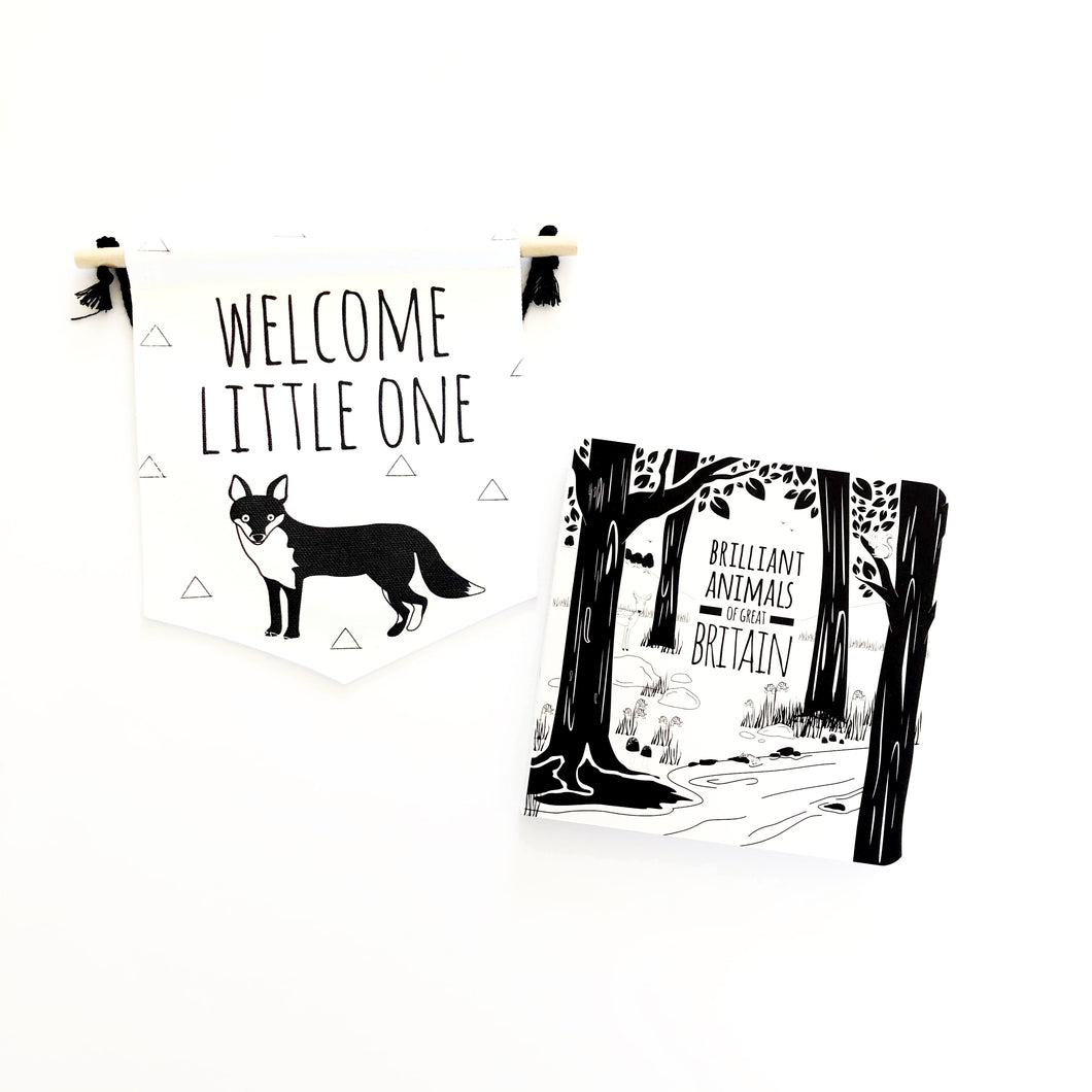 Fox flag and book gift set