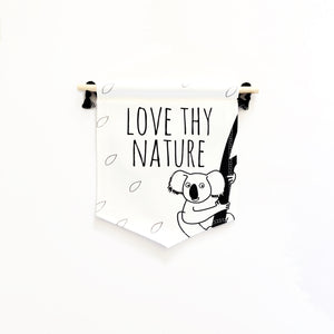 Koala flag and book gift set