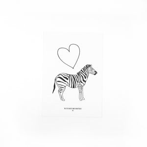 Heart and zebra print - The Little Black & White Book Project