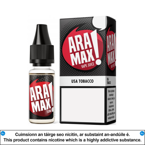 Aramax - USA Tobacco 10ml - OB Vape Shop Ireland | Free Next Day Delivery Over €50 | OB Vape Ireland's Premier Vape Shop