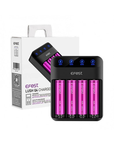 Efest LUSH Q4 Battery Charger - OB Vape Ireland