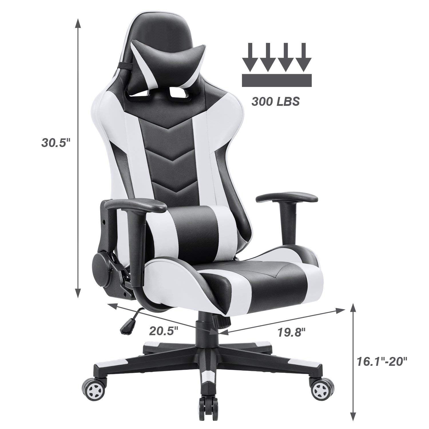 Brilliant Leather Gaming Chair Pc Computer Chair White Forskolin Free Trial Chair Design Images Forskolin Free Trialorg
