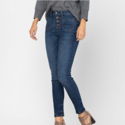 Judy Blue Patch Pocket Skinny Jean