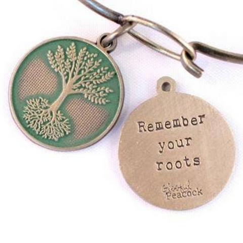 Remember Your Roots Token Charm Bracelet