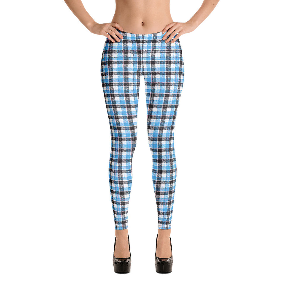 Blue/Black Narrow Plaid