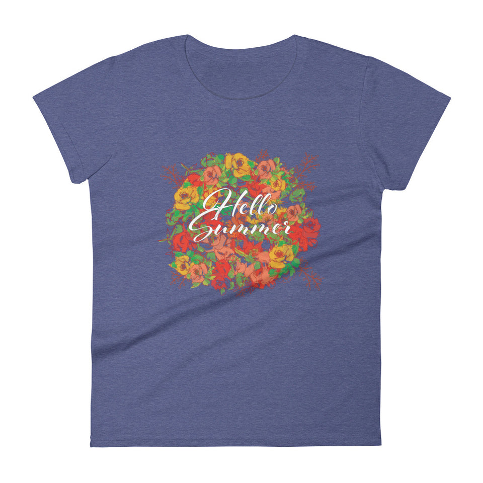 Summer flower Fashion Fit Tee