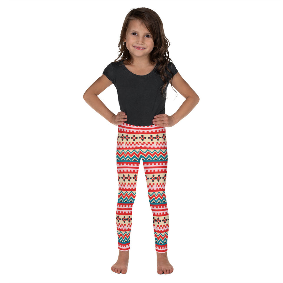 Folk Style - Pink Kid's Leggings