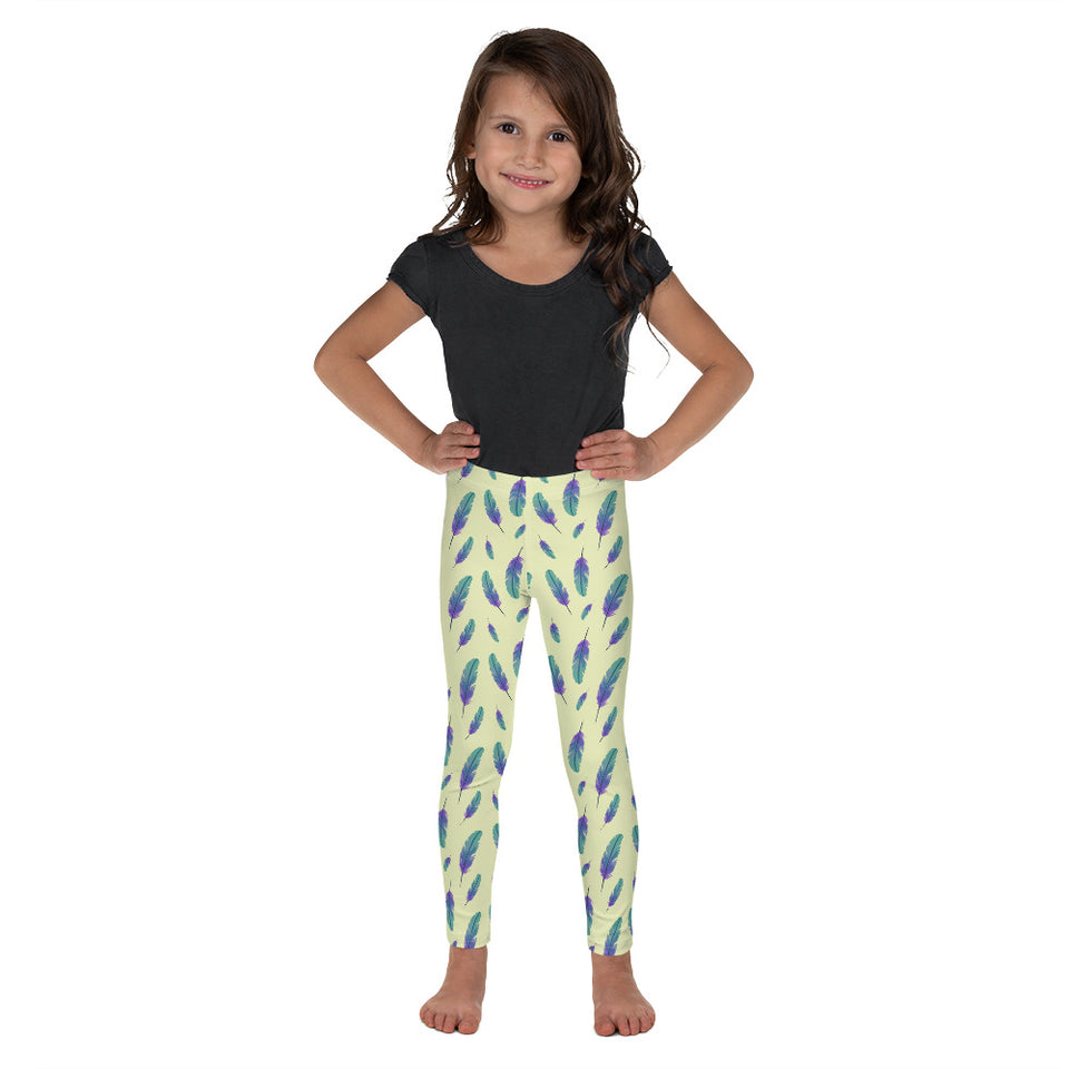 Yellow Feather-Kid's Leggings
