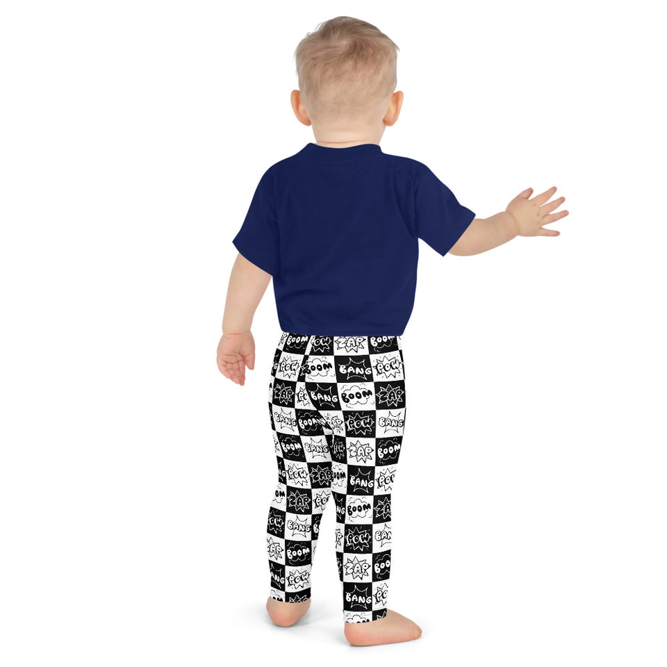 Comic black&white-Kid's Leggings