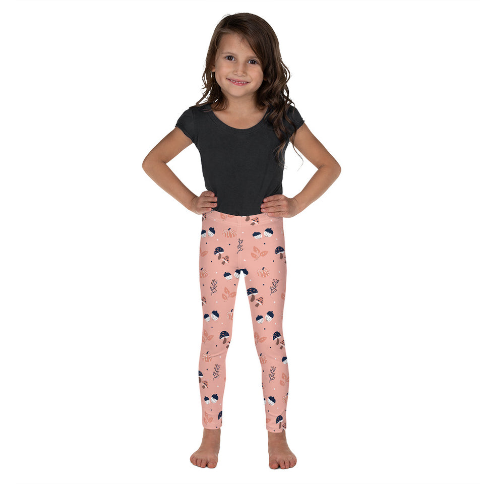 Autumn Nuts Pink-Kid's Leggings